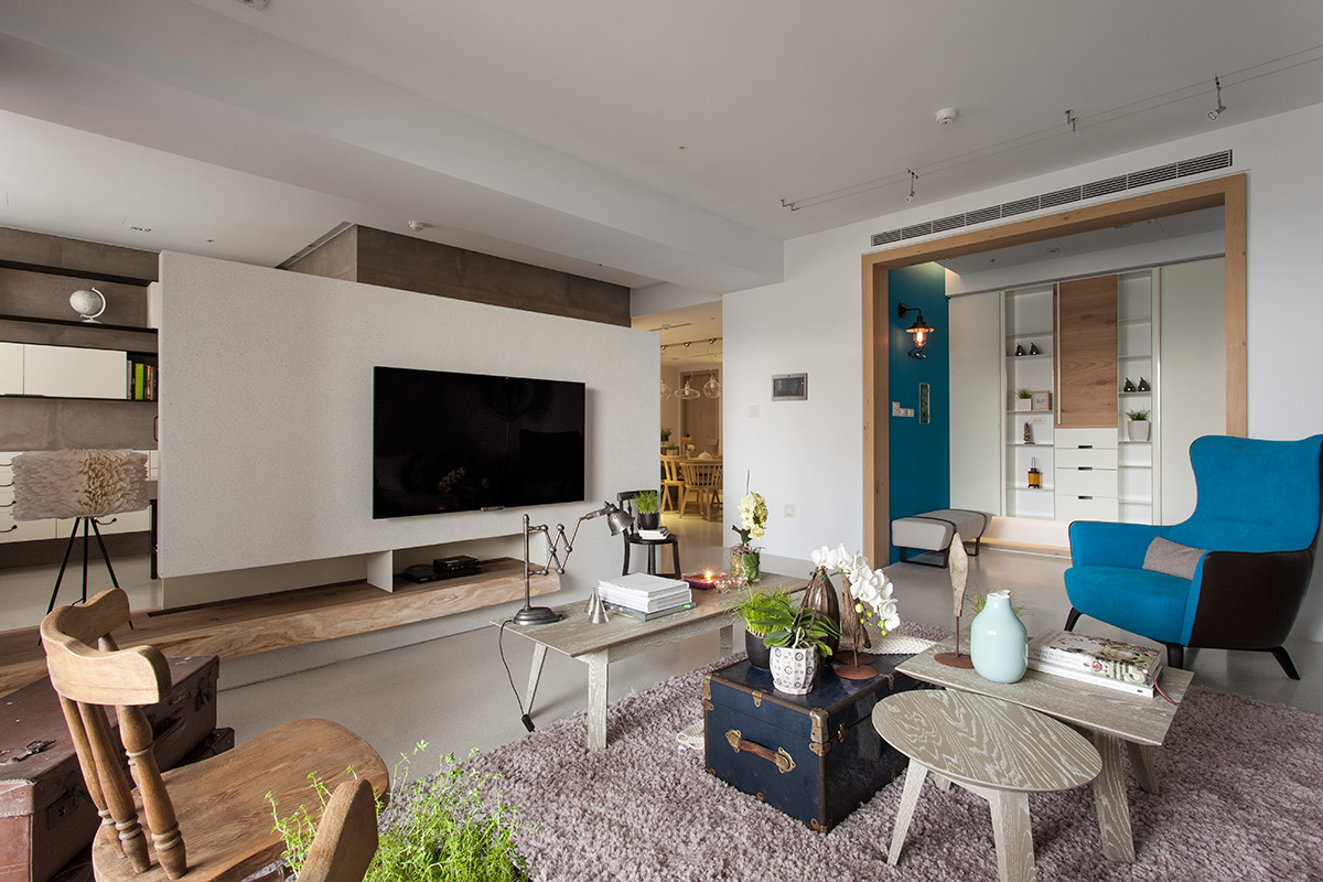 Eclectic taiwan apartment by fertility design for Eclectic apartment decor
