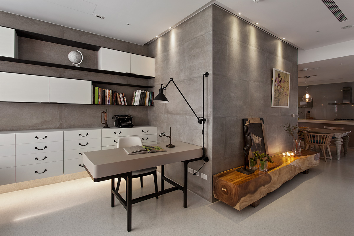 Eclectic taiwan apartment by fertility design for Line design apartment 8