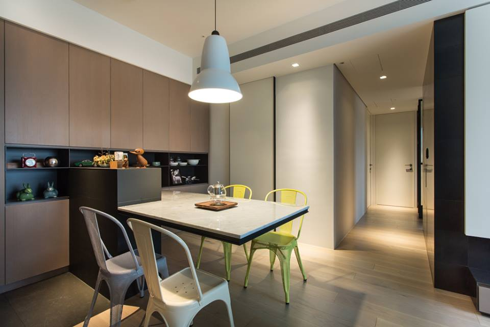 At The Dining Area, A Full Height Cabinet Provides Ample Storage And  Display Corner For The Home Owners. Since The Living Dining Area Is Not  Really A High ...