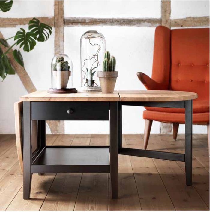 Best Drop Leaf Table With Demi Lune Ikea