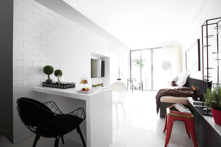 Small Apartment Design Singapore small space living singapore| clean-lined shoebox apartment in