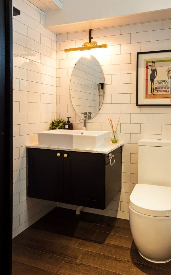 Jq ong the association a hdb flat with black and white - Bathroom cabinets singapore ...