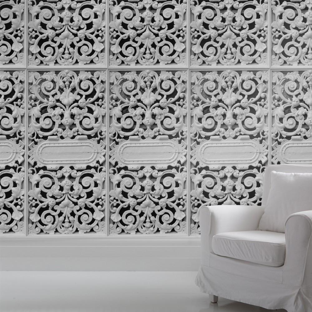 trompe l'oeil wallpaper – spoonful of home design