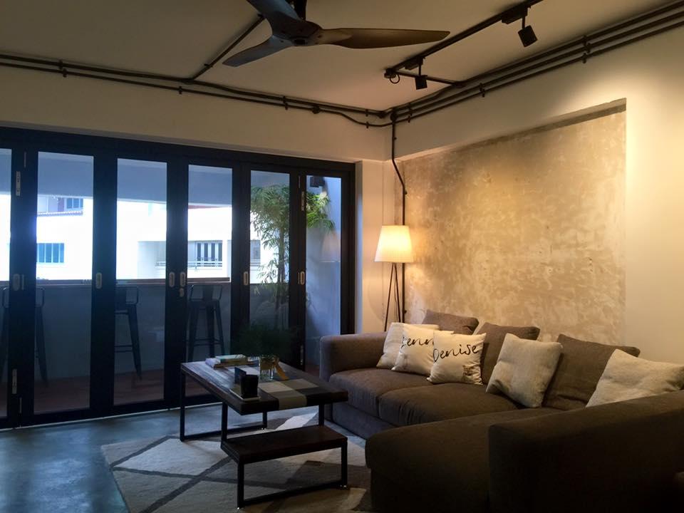 Honest minimalism hdb maisonette by jq ong spoonful of for Hdb balcony design