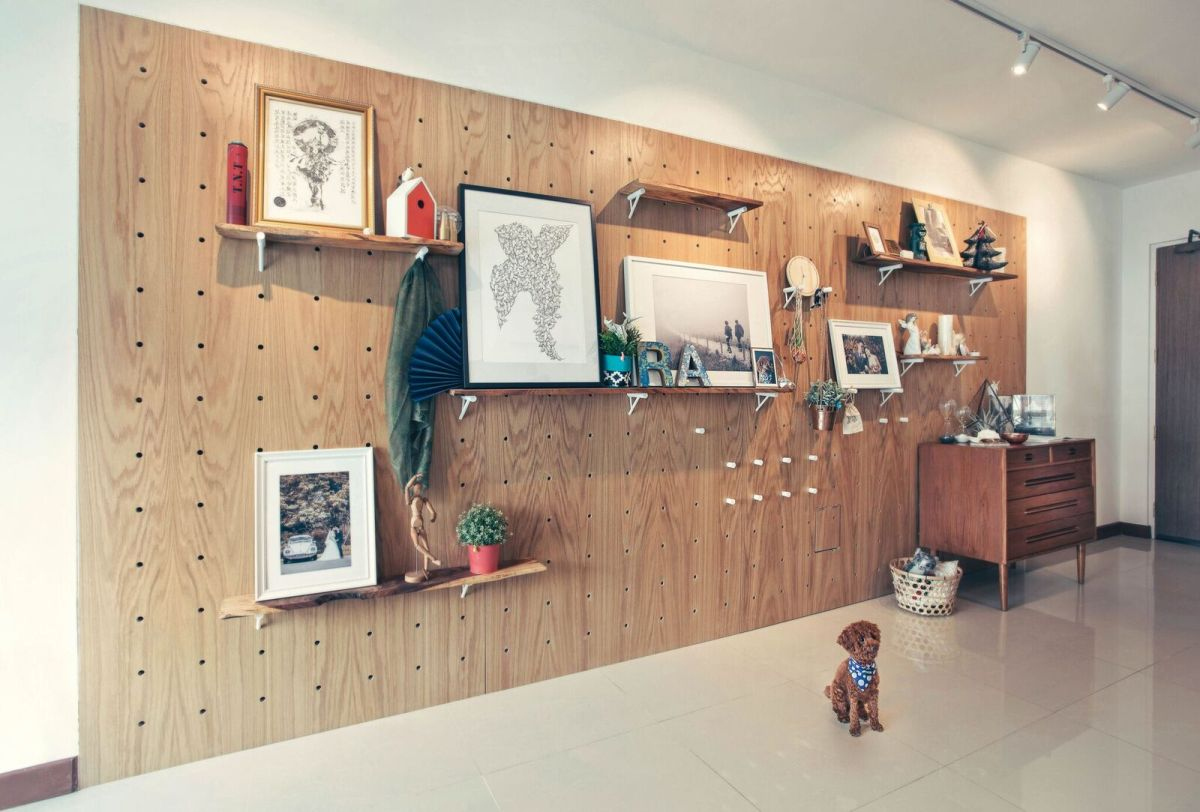 Pegboard and Dowels in a 4-room HDB flat | HelloEmbryo